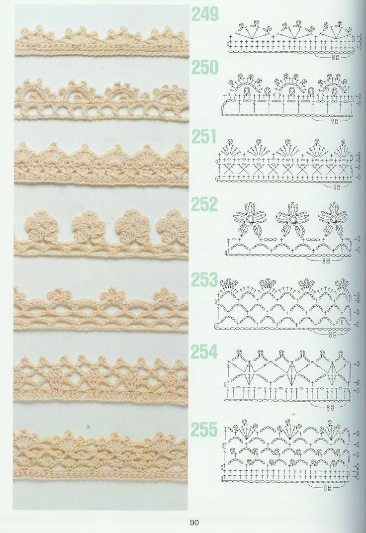 Op Pinterest kwam ik tijdens mijn zoektocht naar randjes deze patronen tegen. En wil ze graag met jullie delen...