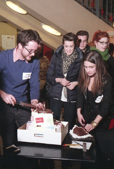 The big Bday cake -in Creative Mornings- Budapest