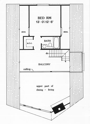 A-Frame Cabin Contemporary House Plan 90603 Level Two