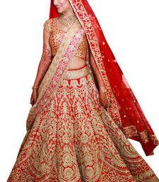 Buy red emblishd lehenga choli with dupatta for women lehenga-choli online
