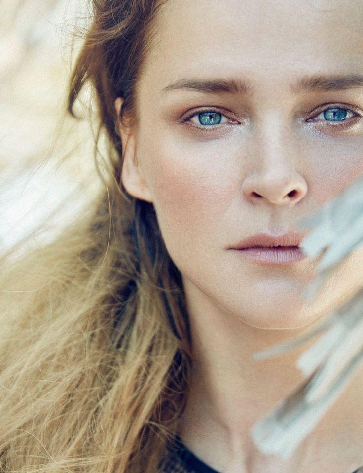 Carmen Kass gets her closeup in this beauty shot