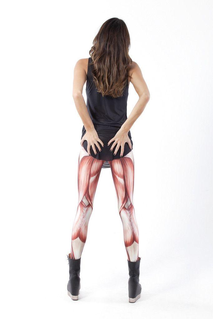 Hot Muscle Print Leggings