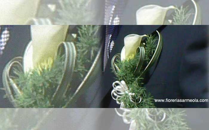La bottoniera o fiore all'occhiello  www.fioreriasarmeola.com
