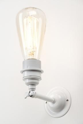 Industrial wall light - white | £75.00