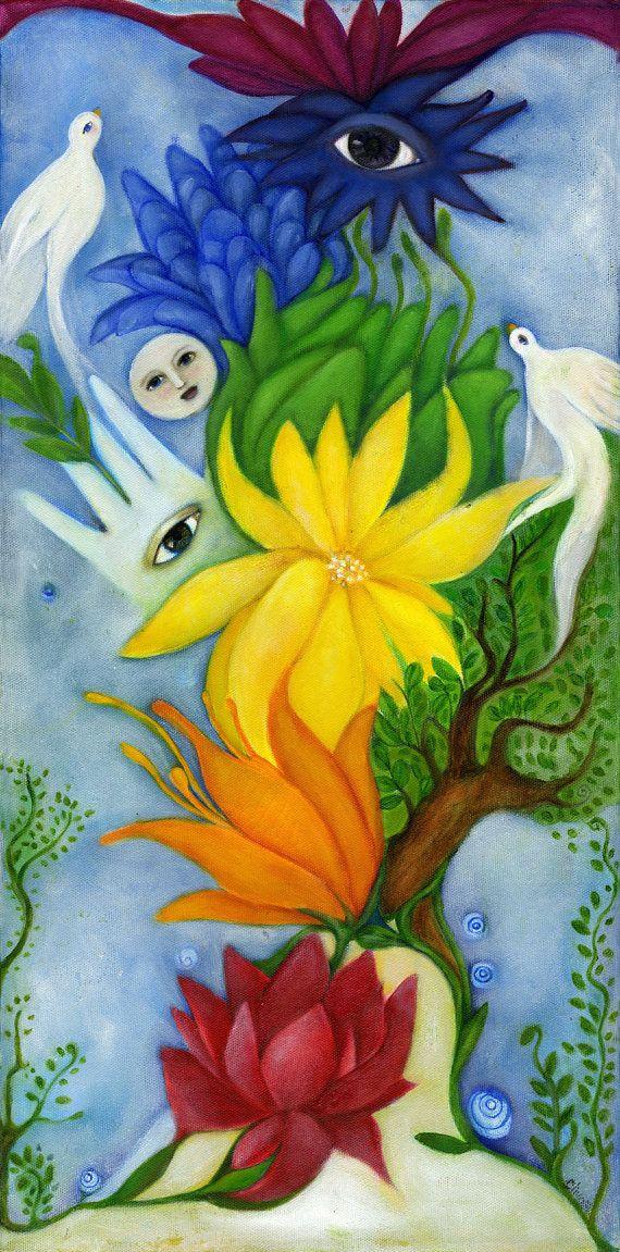 Chakra art print Meditation room wall art Yoga by OlivosARTstudio