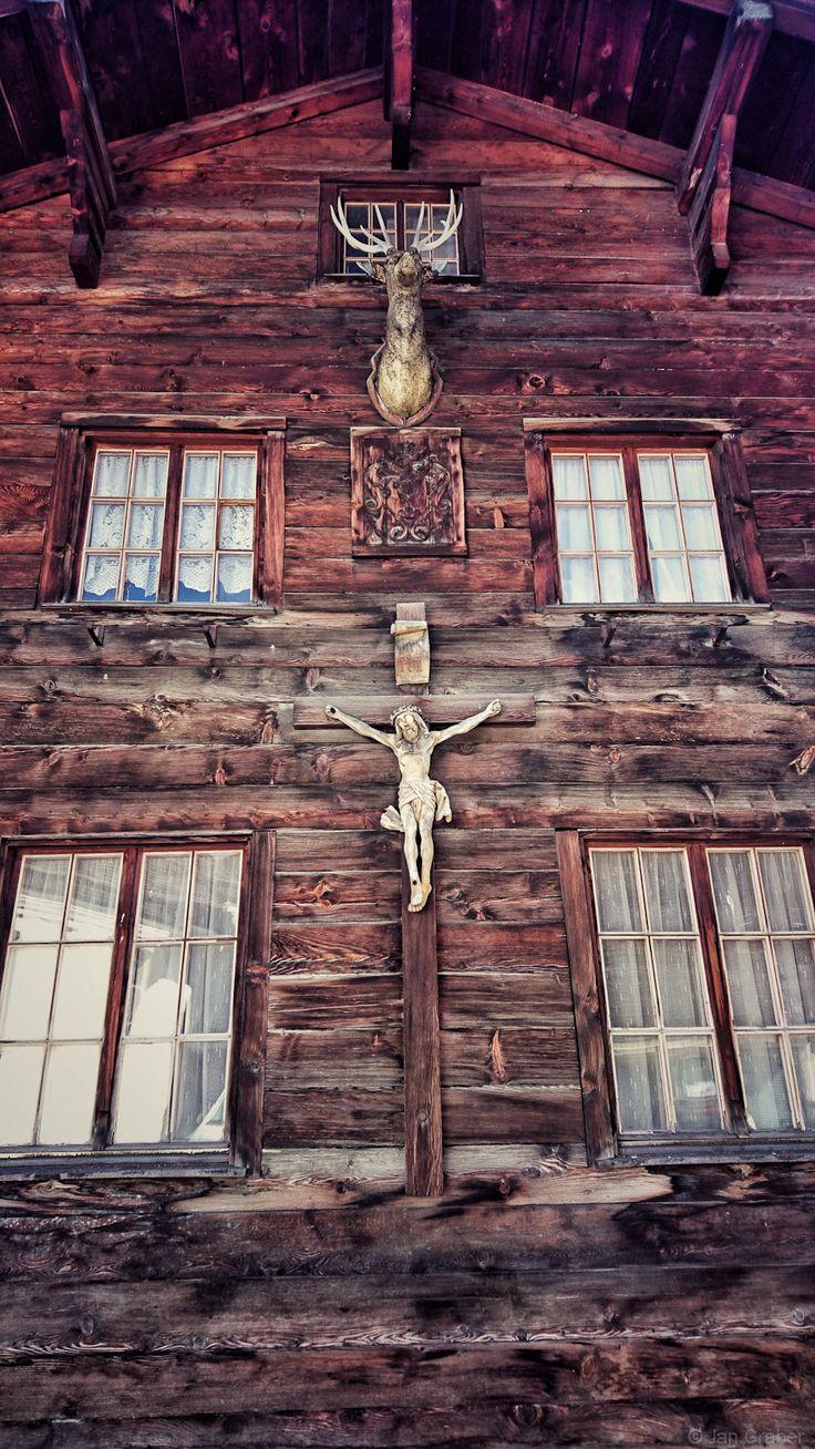 Jesus and the Horned God. Foto by Jan Graber. #religion #jesus #hornedgod #chalet #photography #graber