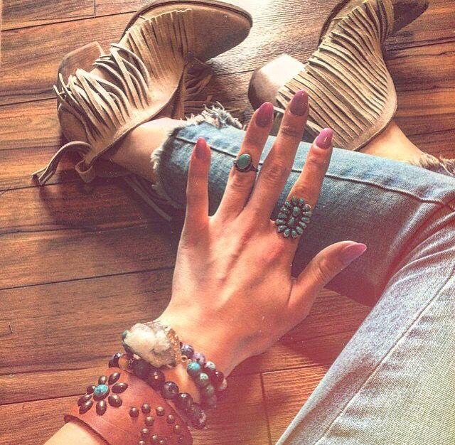 Matisse fringe booties