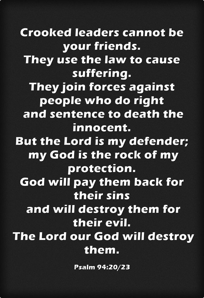 Psalm 94:20 | Just some quotes | Psalms, Bible verses, Verses