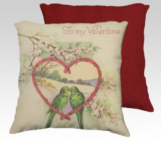Valentine Pillow Cover 18x18 Velveteen Pillow by TheOldBarnDoor