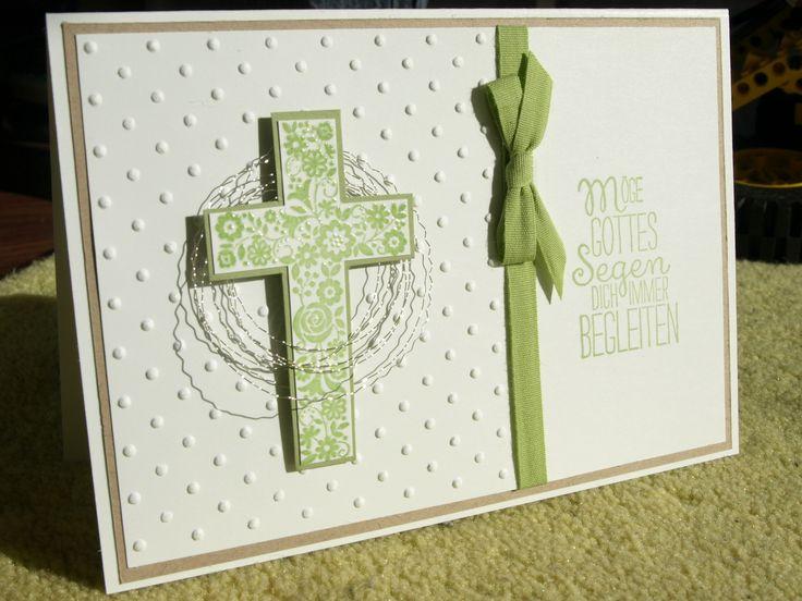 Stampin'Up Taufe Kommunion Karte Glückwunsch Einladung