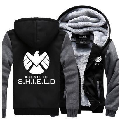 Hot New The Avengers Agents of S.H.I.E.L.D. Fleece Mens Hooded Jacket