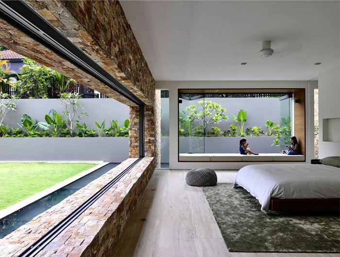 Maison tropicale moderne avec une approche minimaliste Master - maison avec toit en verre