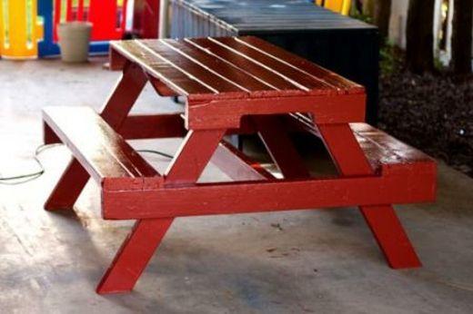 table de pique-nique en palettes de bois