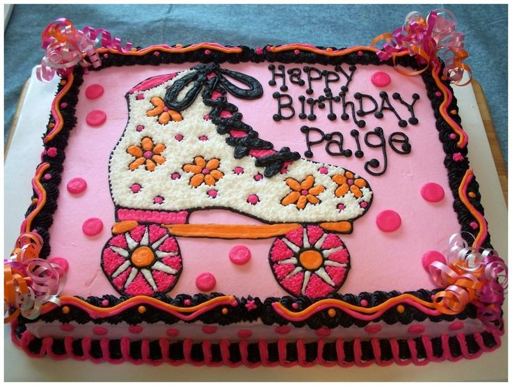 Roller Skate Cakes Decorating Ideas