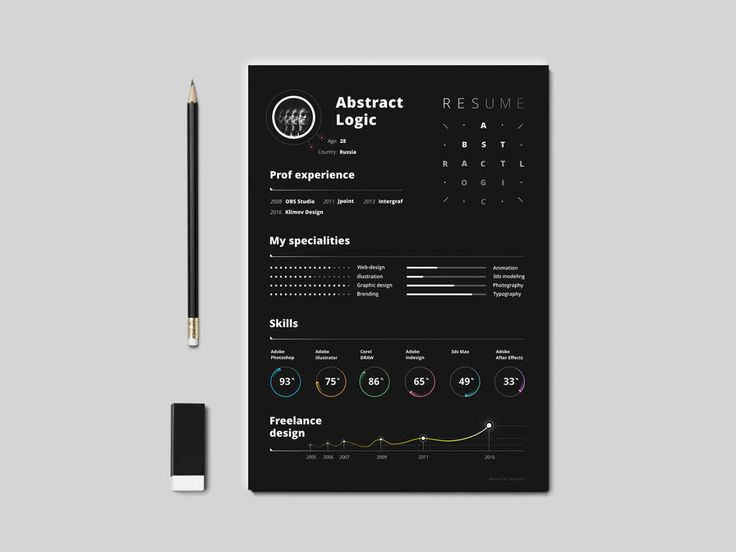 free to download black paper resume