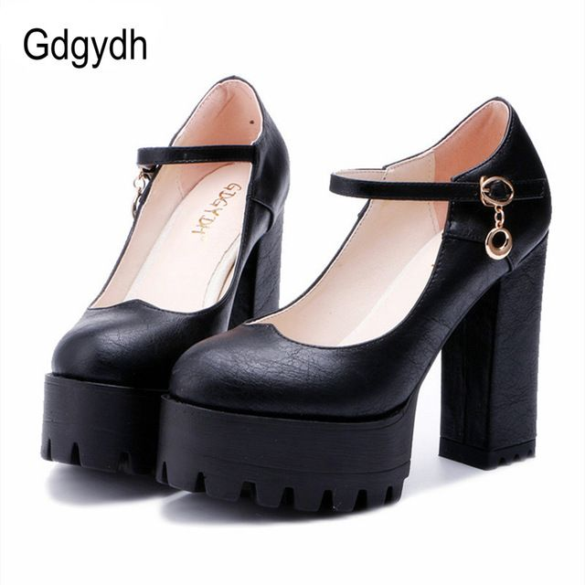 Flash Deals $26.98, Buy Gdgydh Good Quality 2017 Spring High Heels Women Shoes Large Size Thick Heel Platform Women Pumps Casual Shoes Russian Party