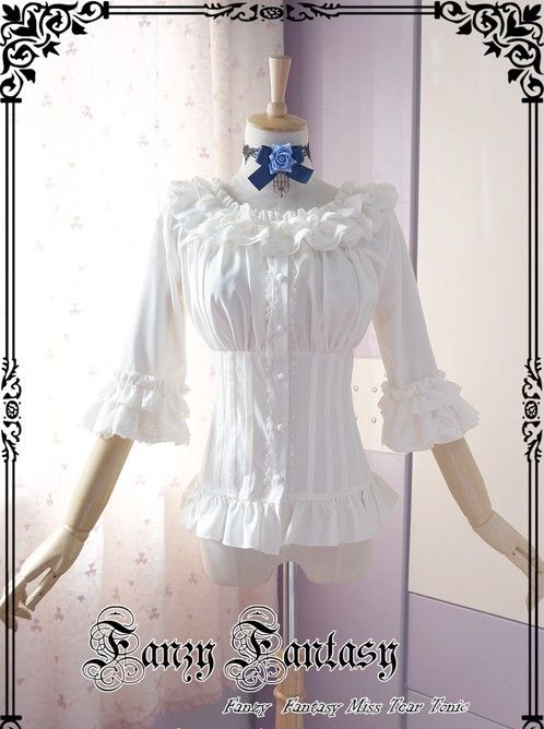 ★★★ Pre-order: Fanzy Fantasy Miss Tear Music Theme Mid-sleeves Blouse ★★★ Learn more >>> http://www.my-lolita-dress.com/fanzy-fantasy-miss-tear-music-theme-middle-sleeves-lolita-shirt-fw-5