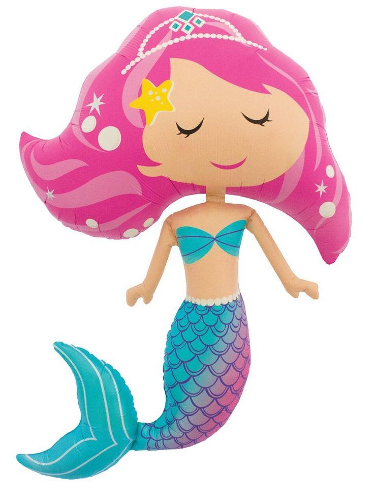 """45"""" Foil Mermaid Balloon"""