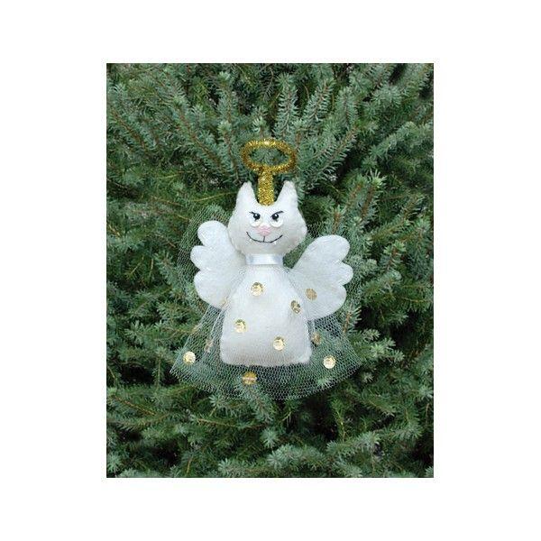 Kit couture décoration sapin de Noël : Chat Ange