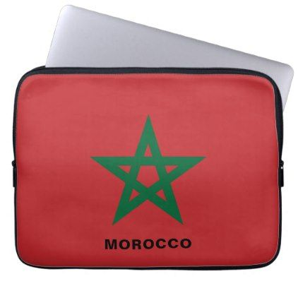 Morocco Flag Laptop Sleeve - individual customized designs custom gift ideas diy