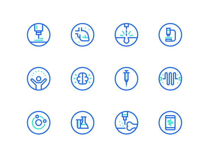 Medical Icons by Dmitri Litvinov #Design Popular #Dribbble #shots