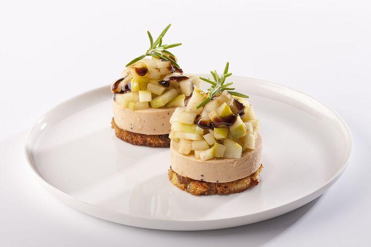 Faux Gras met appelen en balsamico-crème