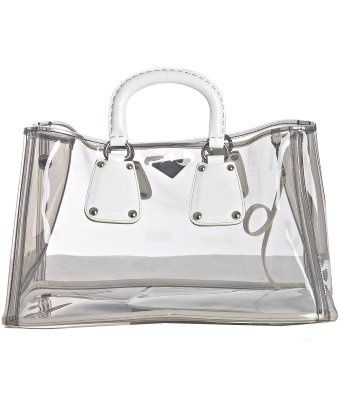Prada transparent PVC tote, perfect beach bag #Spring2013 #trend ...