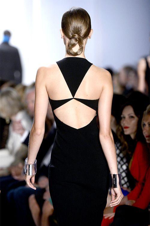 Michael Kors - Spring/Summer 2013 #black #dress #detail