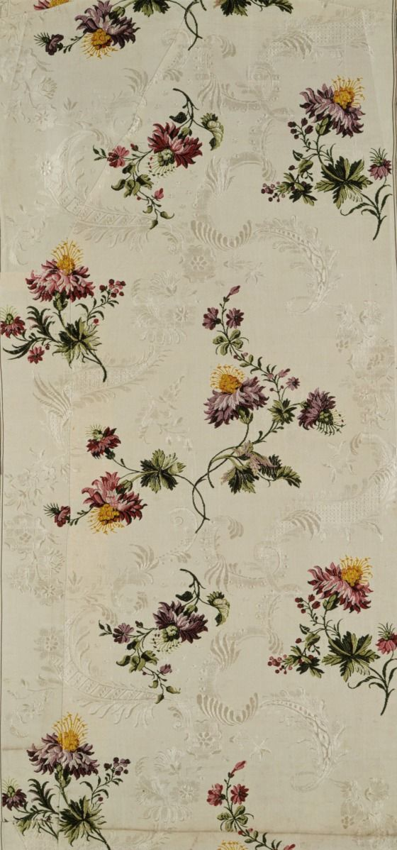 Fabric panel, attributed to Anna Maria Garthwaite, silk brocade, c. 1740, produced in Spitalfields section of London.