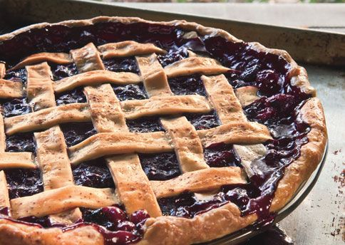 Cranberry and Wild Blueberry Pie. If you don't make your own crust this recipe is ridiculously easy and ends up being a big crowd pleaser.