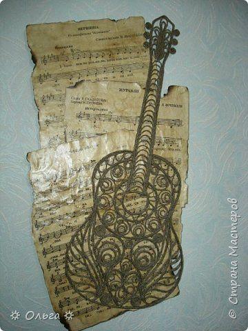Картина панно рисунок День рождения Моделирование конструирование Музыкальная тема  Бумага Шпагат фото 1