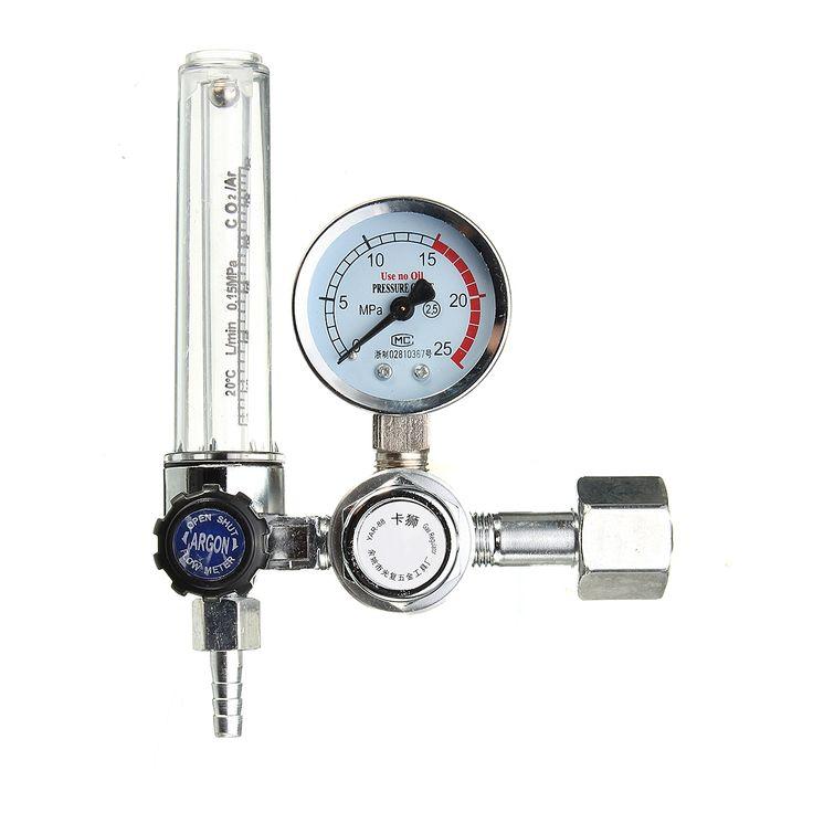 0-25MPA Medidor de Flujo de Mig Medidor de Presión Gas Argón AR / CO2 Regulador Welding Weld