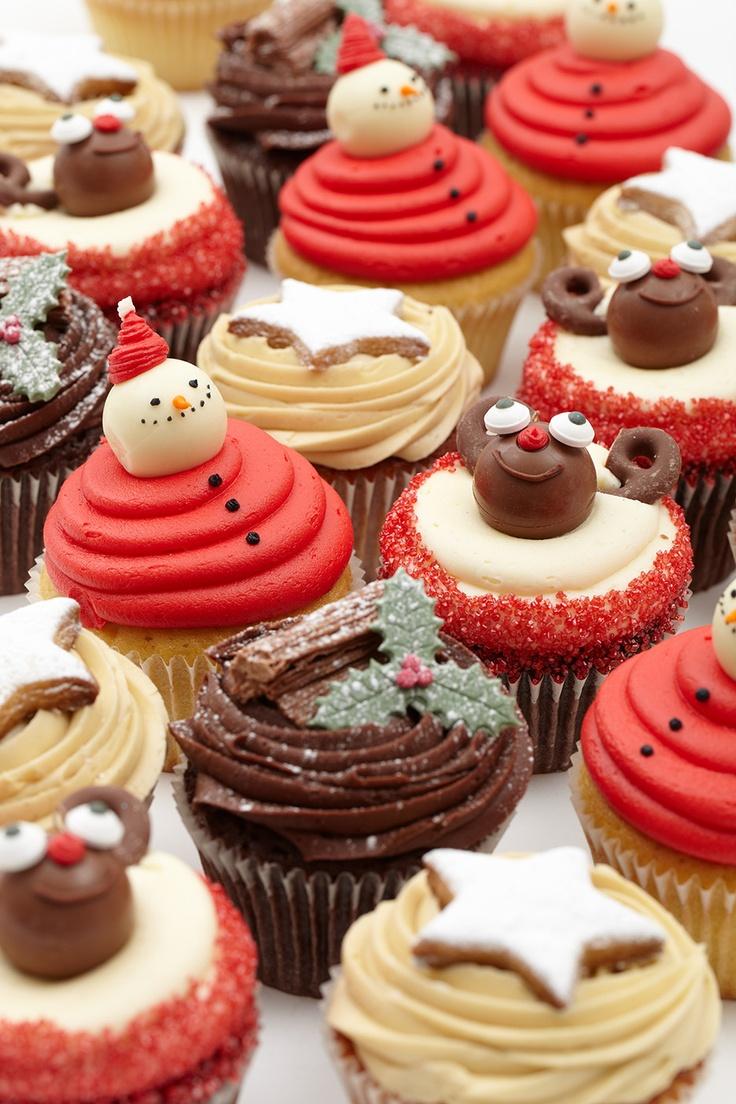 LOLA's Christmas Cupcake Selection.