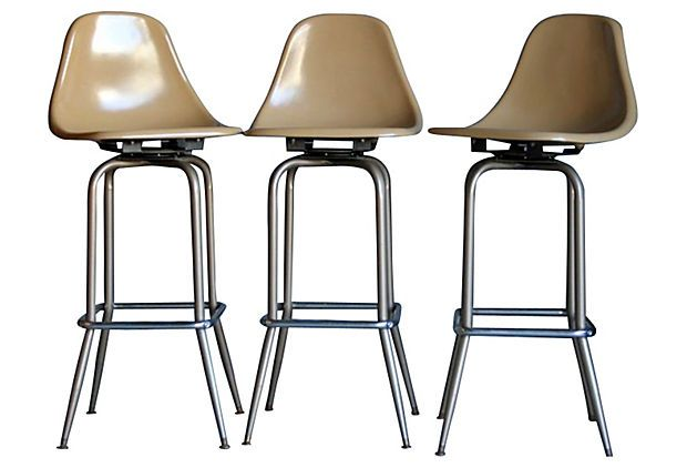 Eames Bar Stools, S/3 on OneKingsLane.com