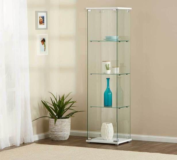 Vision 3 Shelf Glass Display Cabinet