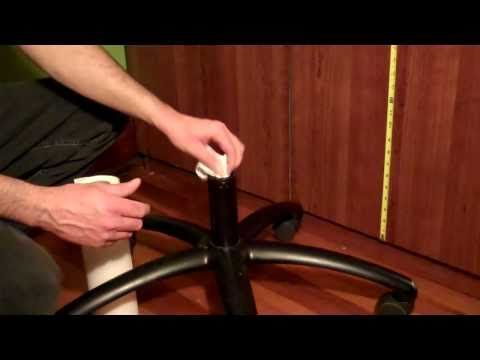 How to fix office chair that keeps sinking pvc pipe for Chair keeps sinking