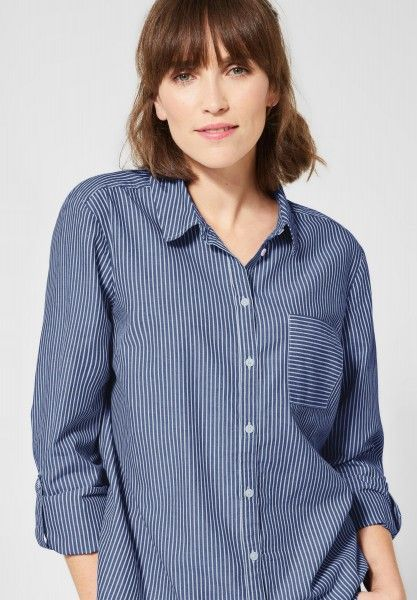 cecil gestreifte hemd bluse in blouse blue concept mode