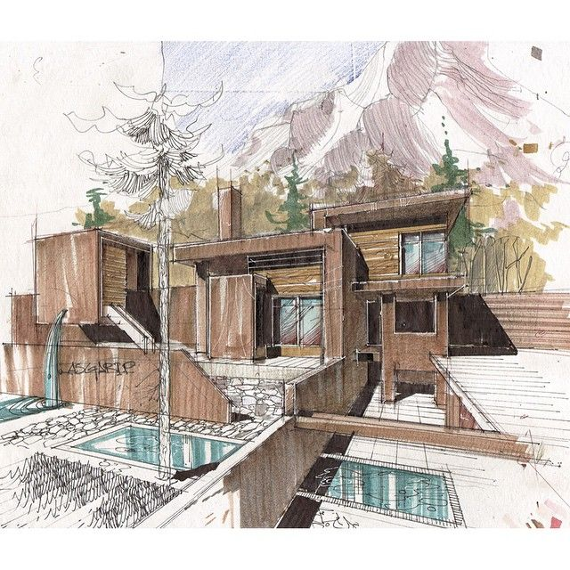 829 best images about archi sketch on pinterest for Architecture design drawing
