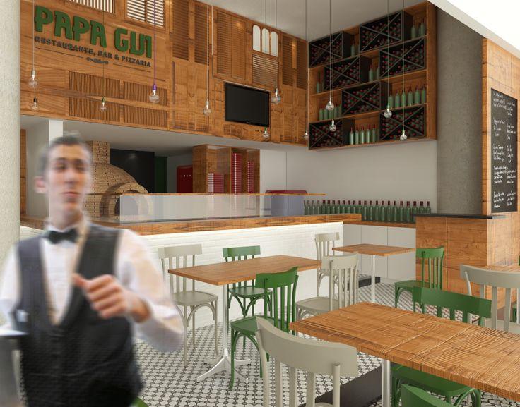 Restaurante em Ipanema po Tripper Arquitetura www.tripperarquitetura.com.br #restaurant #tile #pizza #ladrilho
