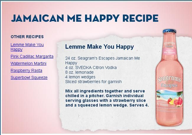 seagram recipe for lemme make you happy