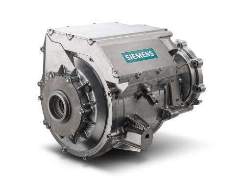 Siemens has developed a solution for integrating an electric car's motor and inverter in a single housing. Until
