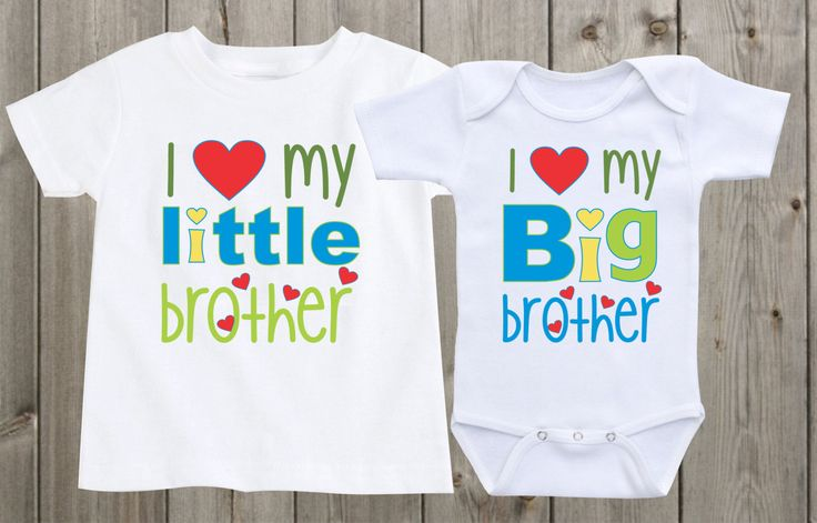 Matching Shirts Sibling Shirts Set of 2 I love my Big brother Little Brother Matching Sibling Shirts Baby Shower Gifts by mkclassyprints on Etsy
