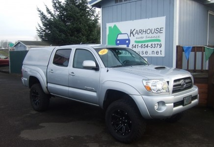 Lifted 2007 Toyota Tacoma Double Cab with a 4.0 Liter V6, manual transmission, and all of the power options.  Hard shell color matched canopy included.  Premium wheels round out this incredible 2007 Toyota Tacoma.Canopies Include, Awesome Tacos, Liter, Double Cab, Lifting 2007, 2007 Toyota, Hard Shells, Incredibles 2007, Colors Matching