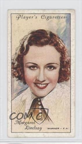 1934 Player's Film Stars Series 2 Tobacco Base #29 Margaret Lindsay Card 0d8
