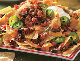 Get Grillin' with Guy Fieri - Beef & Beer Cheese Nachos