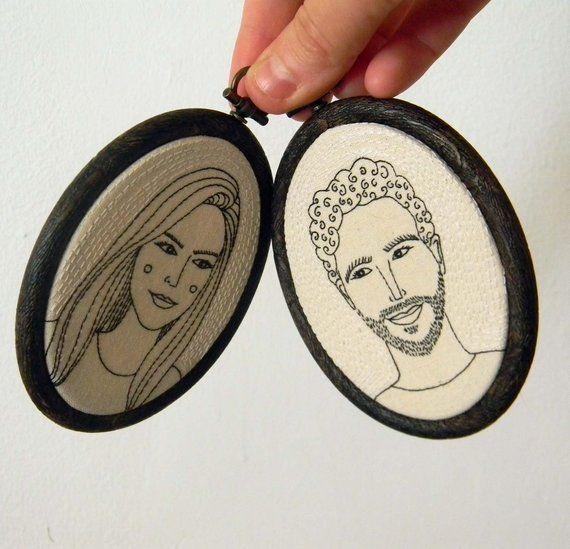 Custom Couple Portraits, Couples Custom Portrait, Personalized Portrait, Boyfriend Birthday Gift, Custom Engagement Wedding Anniversary Gift