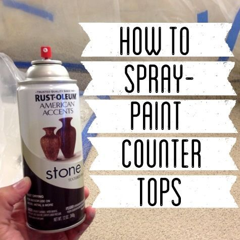 How to Spray Paint Countertops Like this.