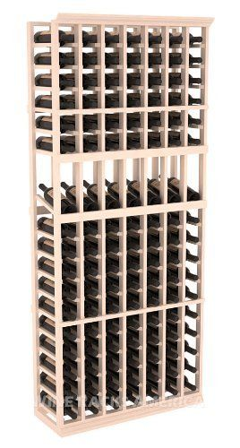 """Five Star Series: 7 Column 119 Bottle Display Wine Cellar Rack in Pine with White Wash Stain by Wine Racks America®. $498.78. Made from eco-friendly wood sources in sustainable forests. 3 ¾"""" wide cubicles for bottle access.. 11/16"""" wood thickness. Designed for 750ml wine bottles. Some assembly required .. Choose From either Pine, Redwood, or Mahogany along with optional Industry Leading Quality Eco-Friendly Stains Paired with an Immaculate Satin Finish. Each have custo..."""