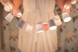 dixie cup garland: Lights, Idea, Craft, Cups, Diy