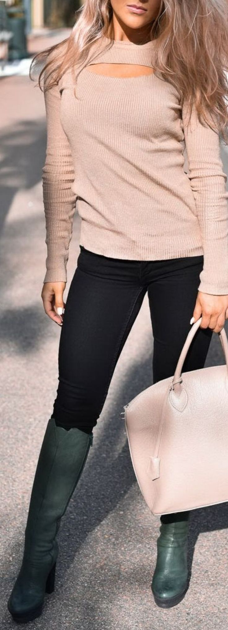 #Black + #Camel + Army #Green #Boots // #trending #outfits
